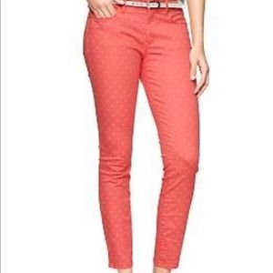 GAP 1969 Coral Bell Skimmer Jeans with Polka Dots